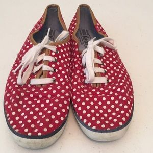 Keds polka dot lace up sneakers